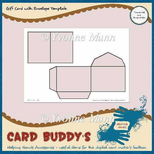 Gift Card Envelope Template Beautiful Gift Card with Envelope Template – Cu Pu £1 80 Instant Card Making Downloads