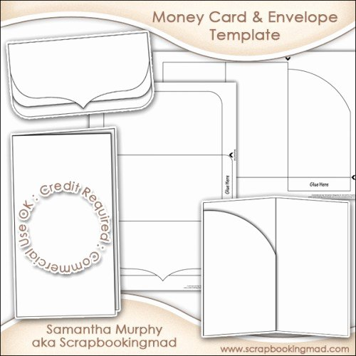 Gift Card Envelopes Templates Fresh Money Gift Card & Envelope Template Mercial Use £3 50 Scrapbookingmad