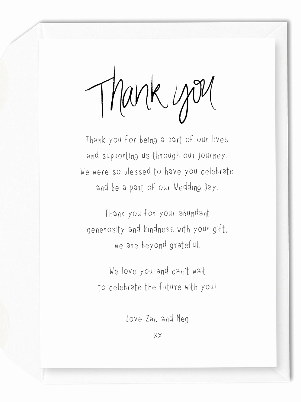 Gift Certificate Wording Examples Luxury 7 Wording Ideas for Your Wedding Thank You Cards