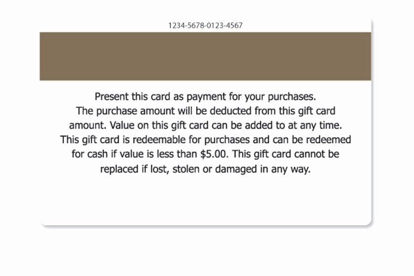Gift Certificate Wording Examples Unique Gift Card Terms and Conditions Samples