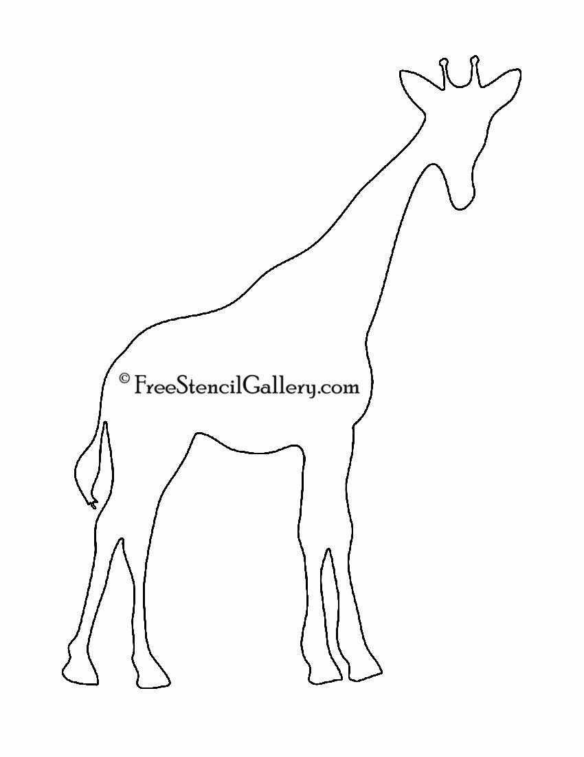 Giraffe Cut Out Template Fresh Giraffe Silhouette 850×1 100 Pixels Giraffe