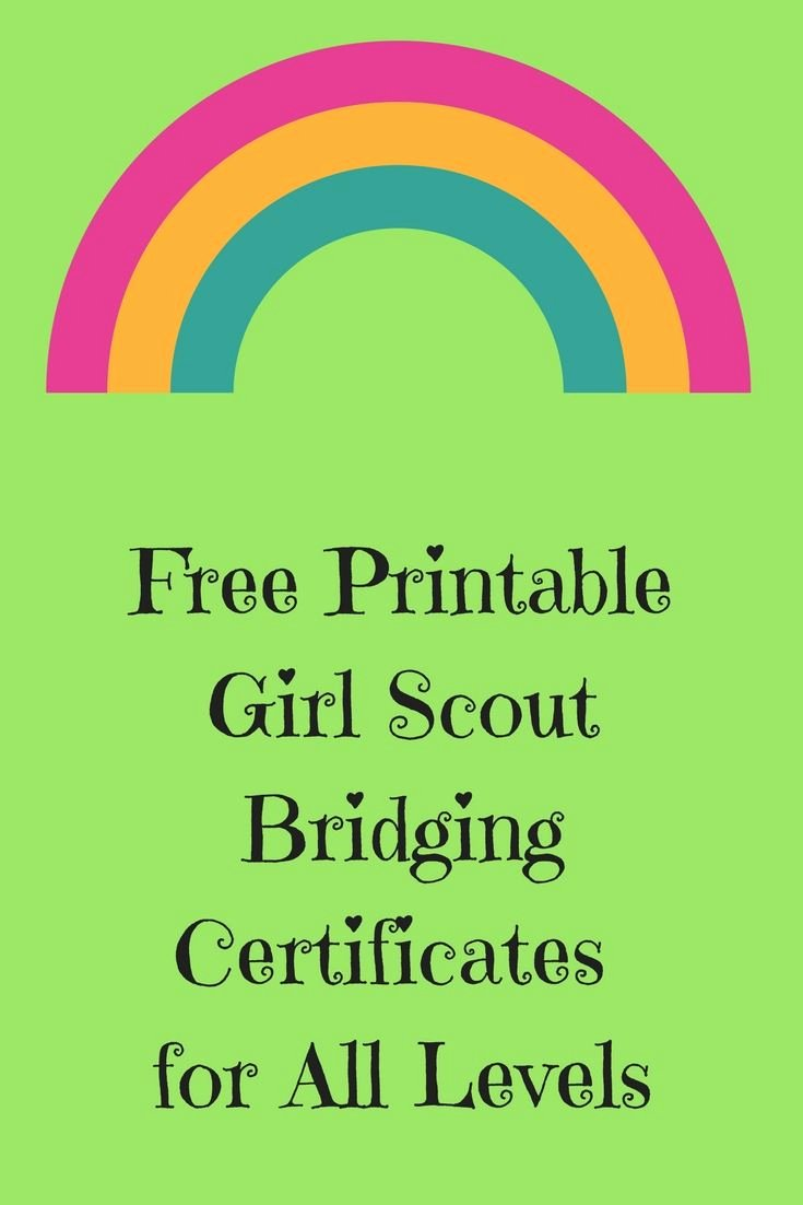 Girl Scout Bridging Certificate Beautiful Friday Freebie Free Printable Girl Scout Bridging Certificates Girl Scout Bridging