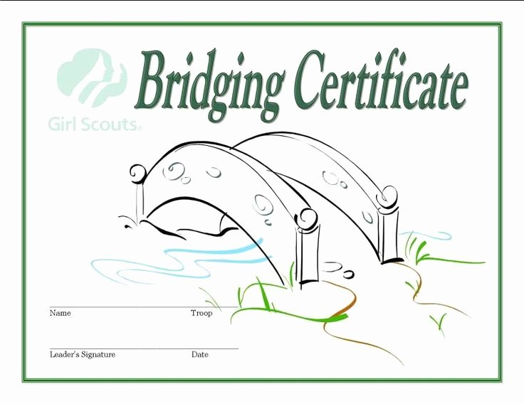 Girl Scout Bridging Certificate Elegant 99 Best Images About Girl Scout Ideas On Pinterest