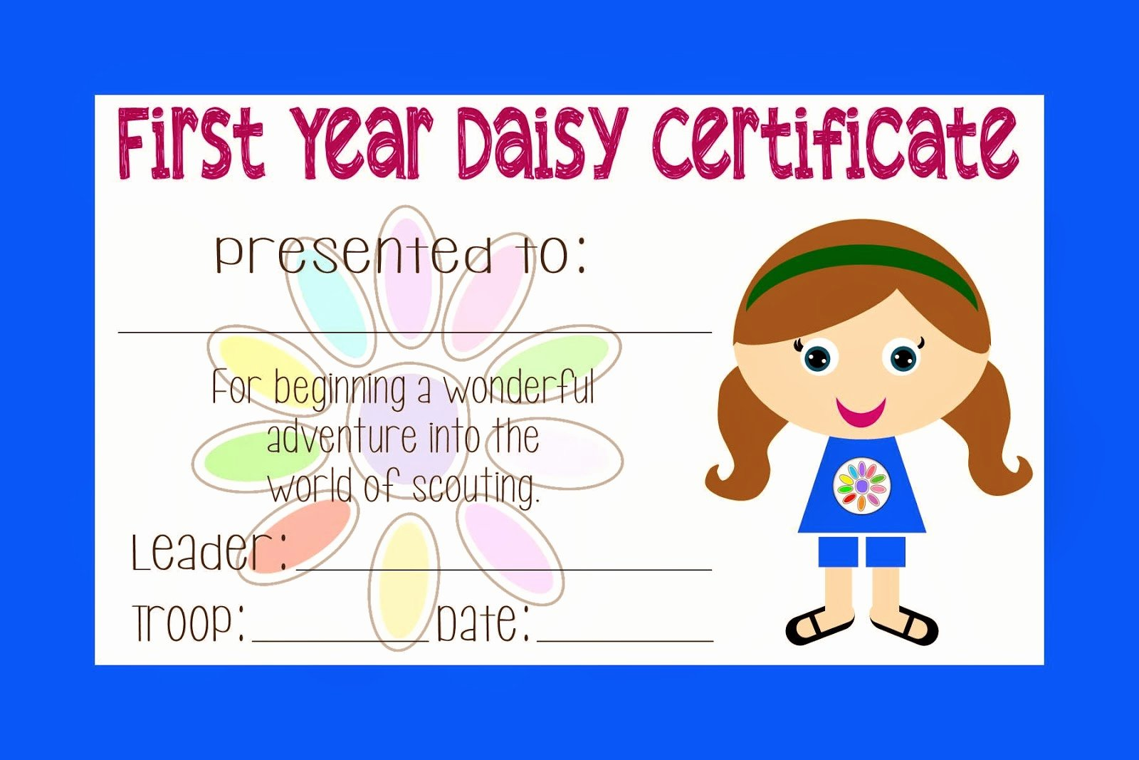 Girl Scout Bridging Certificate Inspirational Two Magical Moms Girl Scout Daisy Certificate