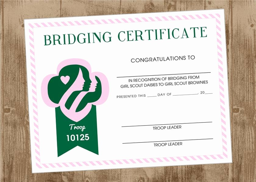 Girl Scout Bridging Certificate Lovely Girl Scout Bridging Ceremony – Brownies Here We E