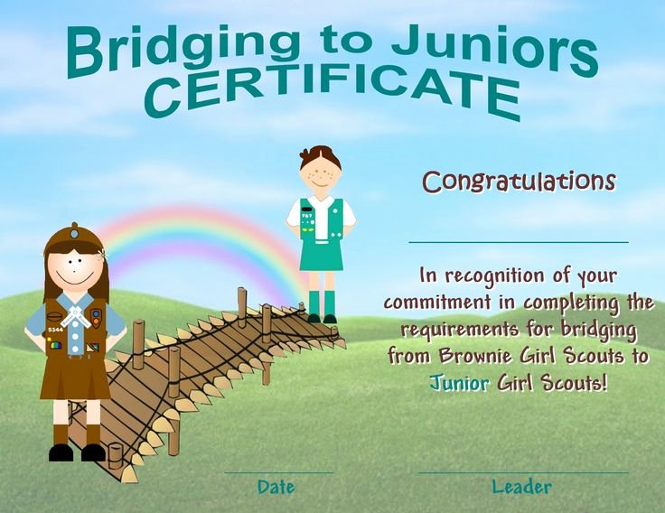Girl Scout Bridging Certificate Unique 90 Best Bridging to Brownies Images On Pinterest
