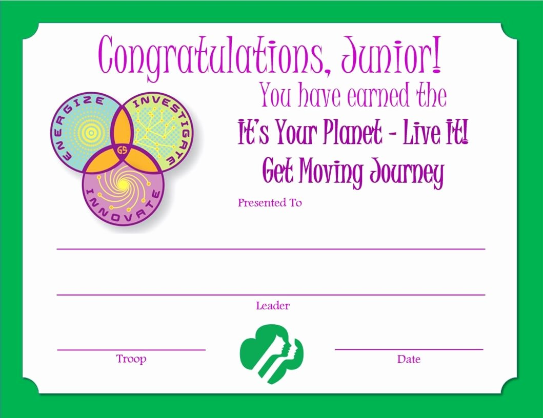 Girl Scout Bridging Certificates Best Of Girl Scout Certificate Templates