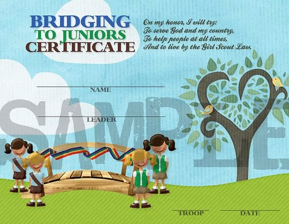 Girl Scout Bridging Certificates Inspirational Scouts Brownies and Girls On Pinterest