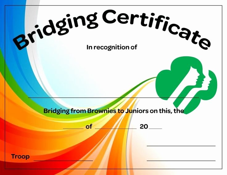 Girl Scout Bridging Certificates Unique Brownies to Juniors Bridging Certificate Free Download All Things Girl Scouts