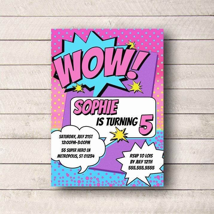 Girl Superhero Birthday Invitations Best Of Pin by Paula Murphy On Super Hero Party