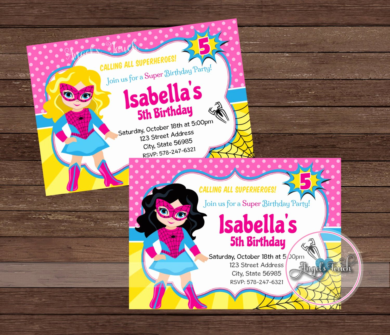 Girl Superhero Birthday Invitations Best Of Superhero Spider Girl Party Invitation Pink Spider Girl