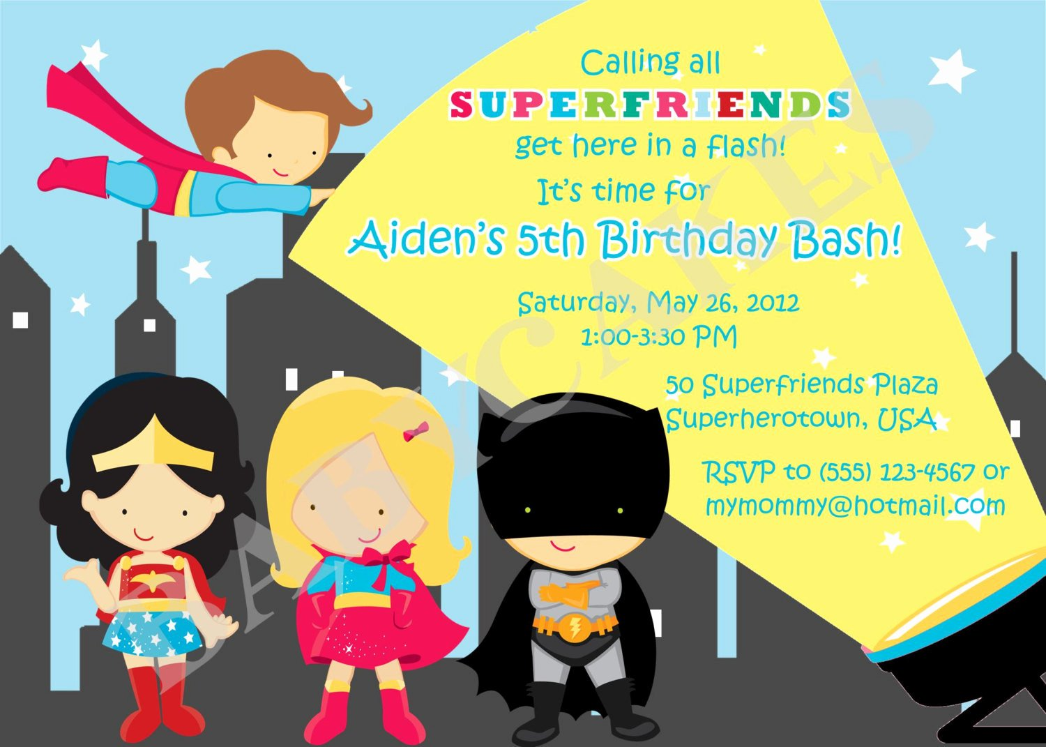 Girl Superhero Birthday Invitations Elegant Boy and Girl Superhero Birthday Invitation by Jcbabycakes
