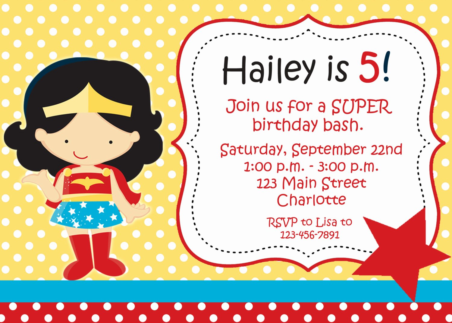 Girl Superhero Birthday Invitations Fresh Superhero Girl Birthday Party Invitation by thebutterflypress