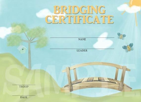 Girls Scout Bridging Certificates Elegant Girl Scout Bridging Certificate by Capturedbyjessprints On Etsy