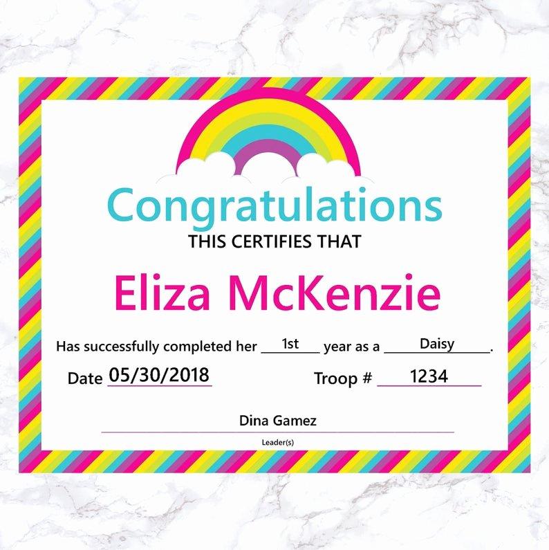 Girls Scout Bridging Certificates Fresh Girl Scout End Of Year Certificate Girl Scout End Of Year