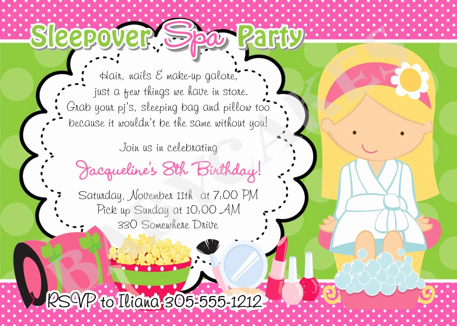 Girls Spa Party Invitations Awesome Girl Spa Party Invitations