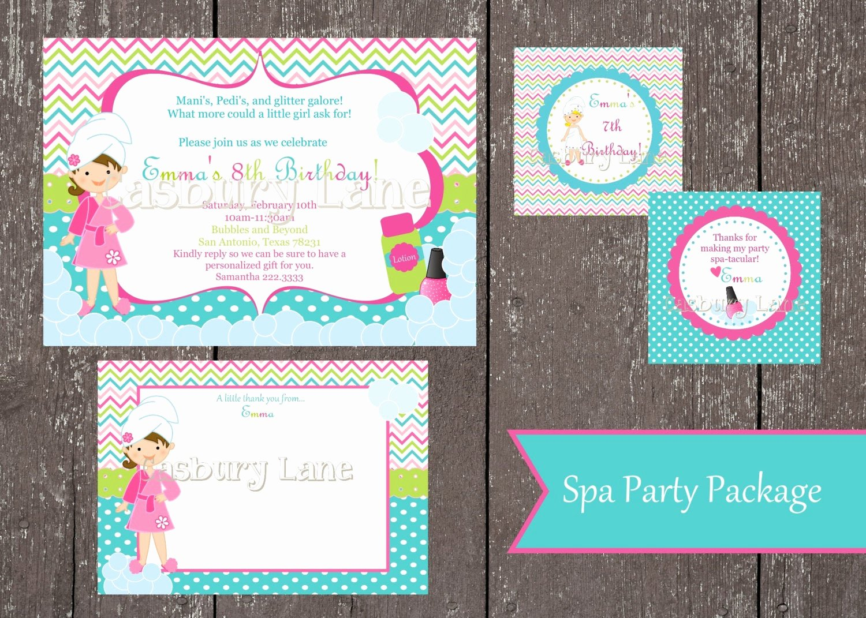 Girls Spa Party Invitations Fresh Printable Invitation New Spa Party Girls Collection Little