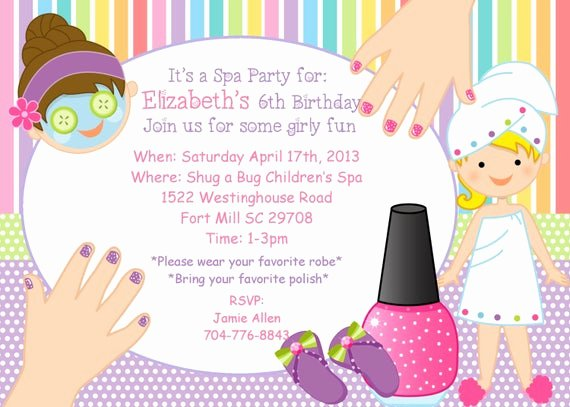 Girls Spa Party Invitations New Items Similar to Girls Spa Party Invitation On Etsy