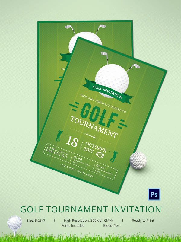 Golf Invitation Template Free Awesome 25 Fabulous Golf Invitation Templates & Designs
