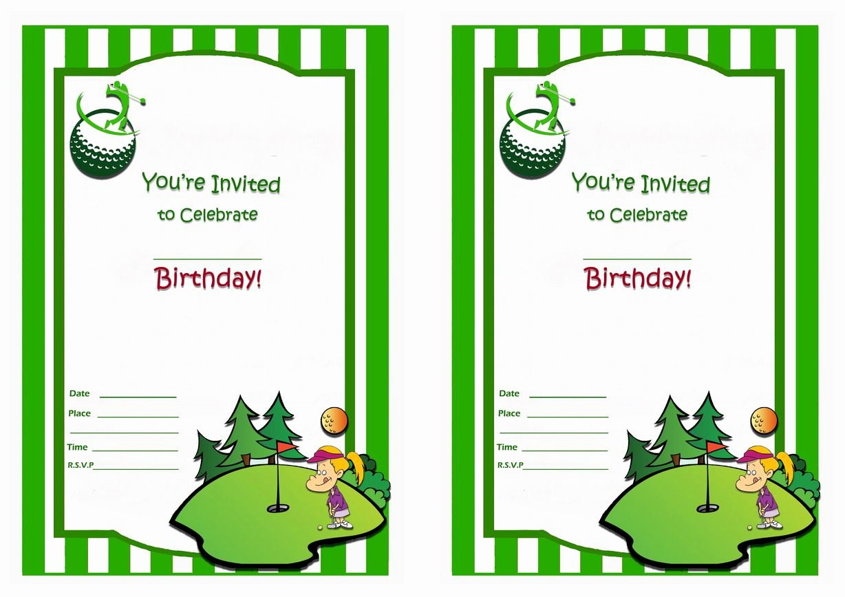 Golf Invitation Template Free Awesome Golf Free Printable Birthday Party Invitations Family Kids Etc