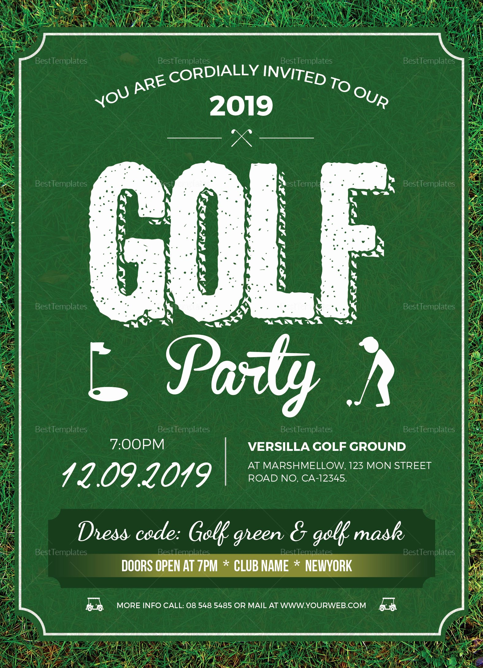Golf Invitation Template Free Best Of Golf Party Invitation Design Template In Word Psd Publisher