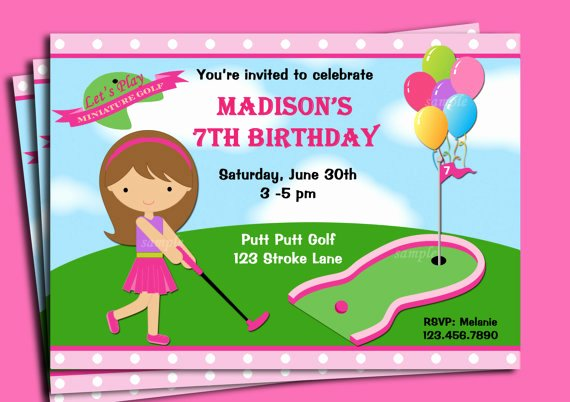 Golf Invitation Template Free Fresh Mini Golf Birthday Party Invitations