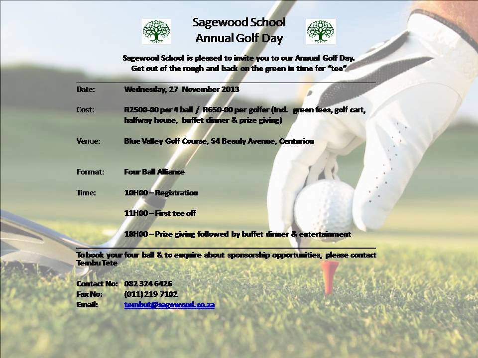 Golf Invitation Template Free Fresh Sagewood Academic Corner Golf Day Invitation