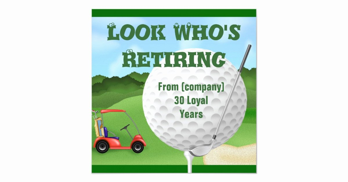 Golf Invitation Template Free Lovely Golf Retirement Invitations Template