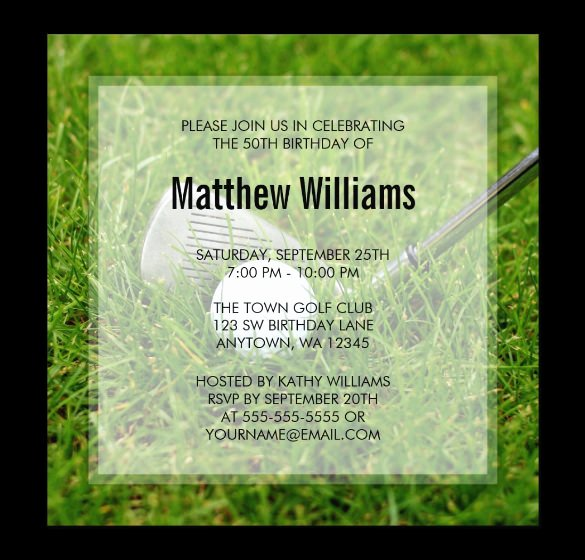 Golf Invitation Template Free New 25 Fabulous Golf Invitation Templates & Designs