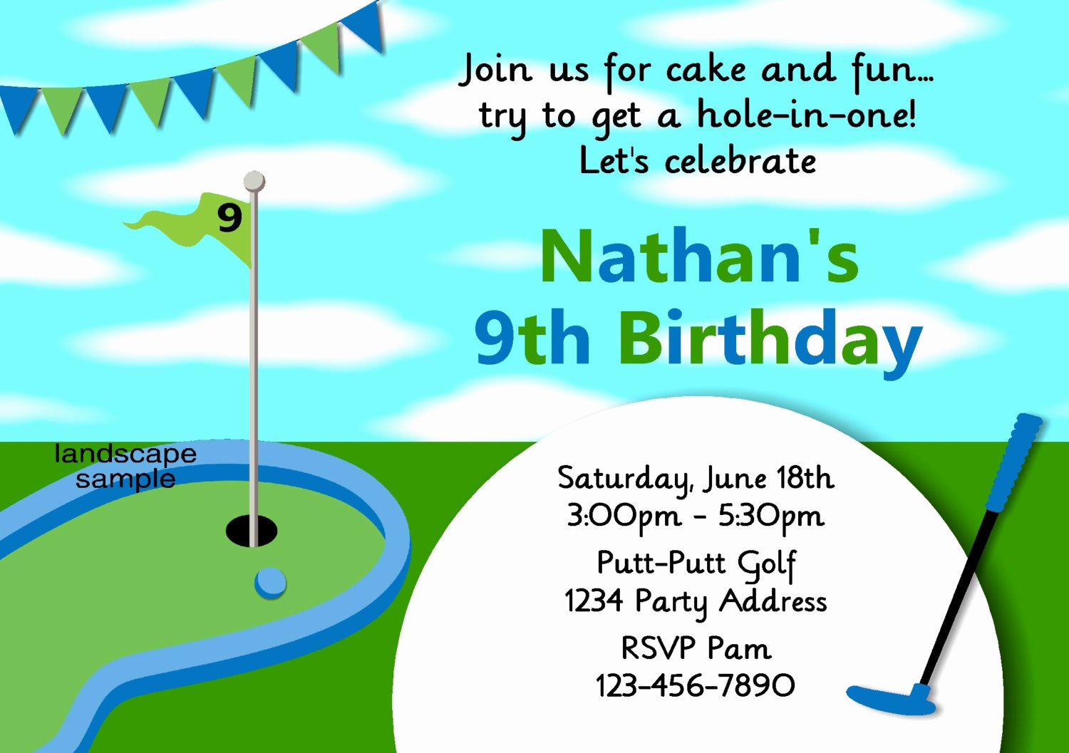 Golf Invitation Template Free Unique Golf themed Birthday Invitations Ideas – Bagvania Free Printable Invitation Template