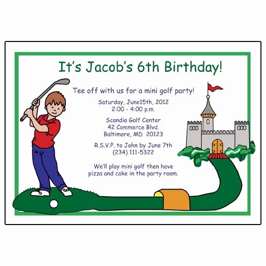 Golf Invitation Template Free Unique Mini Golf Birthday Party Invitation Boy – Mandys Moon Personalized Gifts