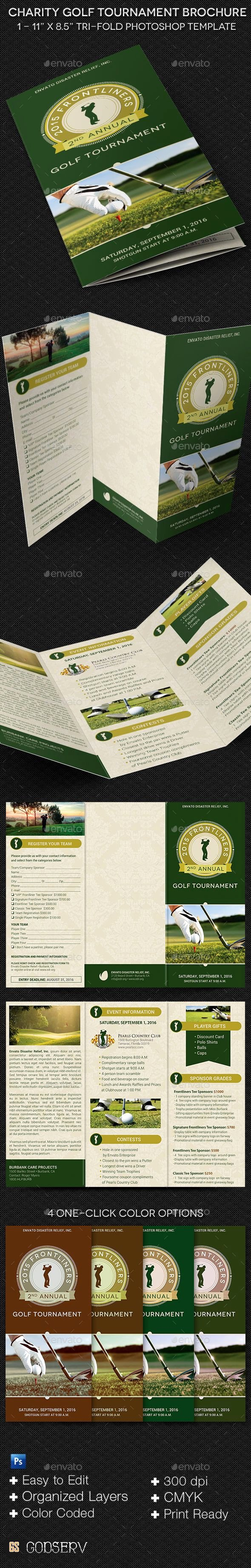 Golf Outing Flyer Template Awesome Charity Golf tournament Brochure Template