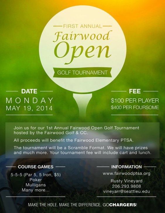 Golf Outing Flyer Template Awesome Pinterest • the World's Catalog Of Ideas
