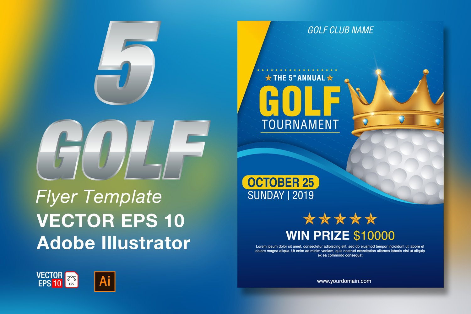 Golf Outing Flyer Template Beautiful Golf tournament Flyer Template