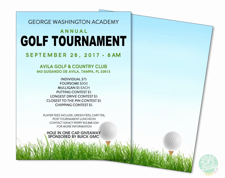 Golf Outing Flyer Template Elegant Golf tournament Flyer Template School Golf tournament Poster