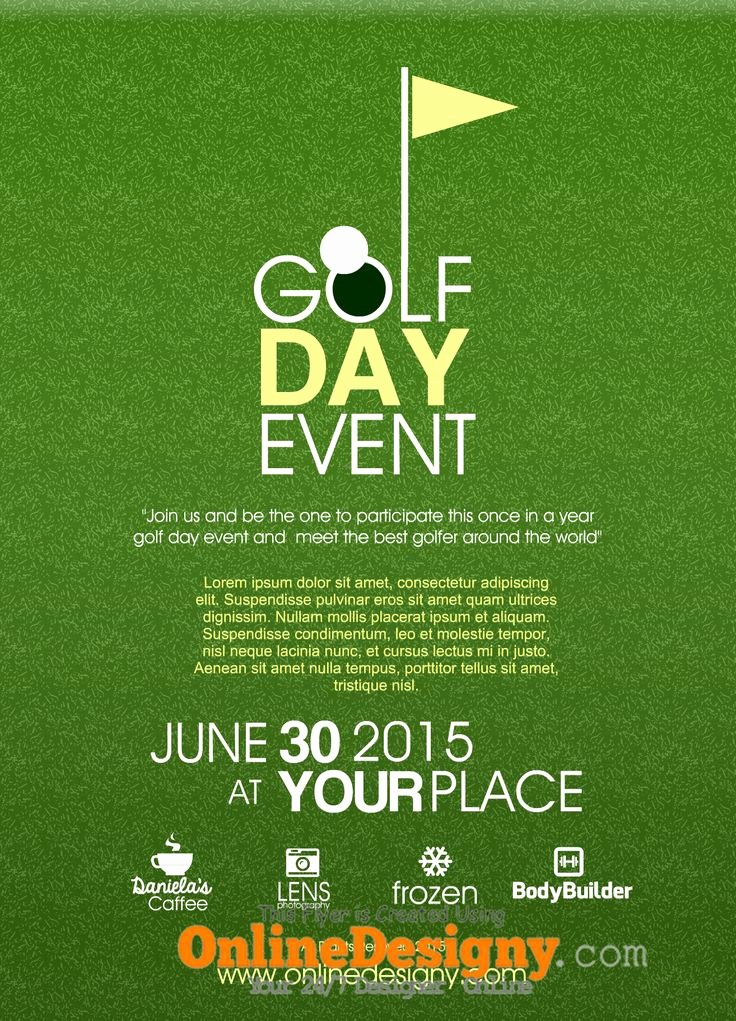 Golf Outing Flyer Template Luxury 18 Best Golf Invitation Images On Pinterest