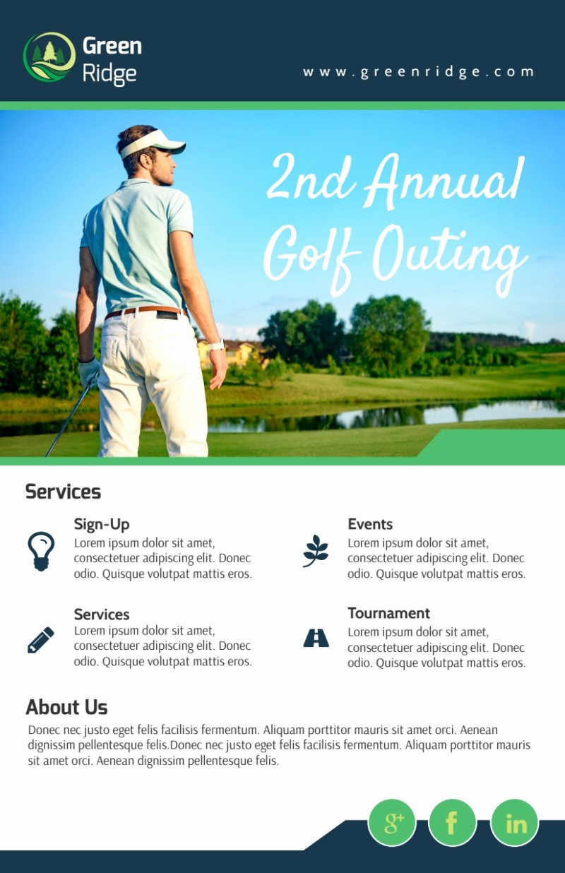 Golf Outing Flyer Template Luxury Annual Golf Outing Flyer Template