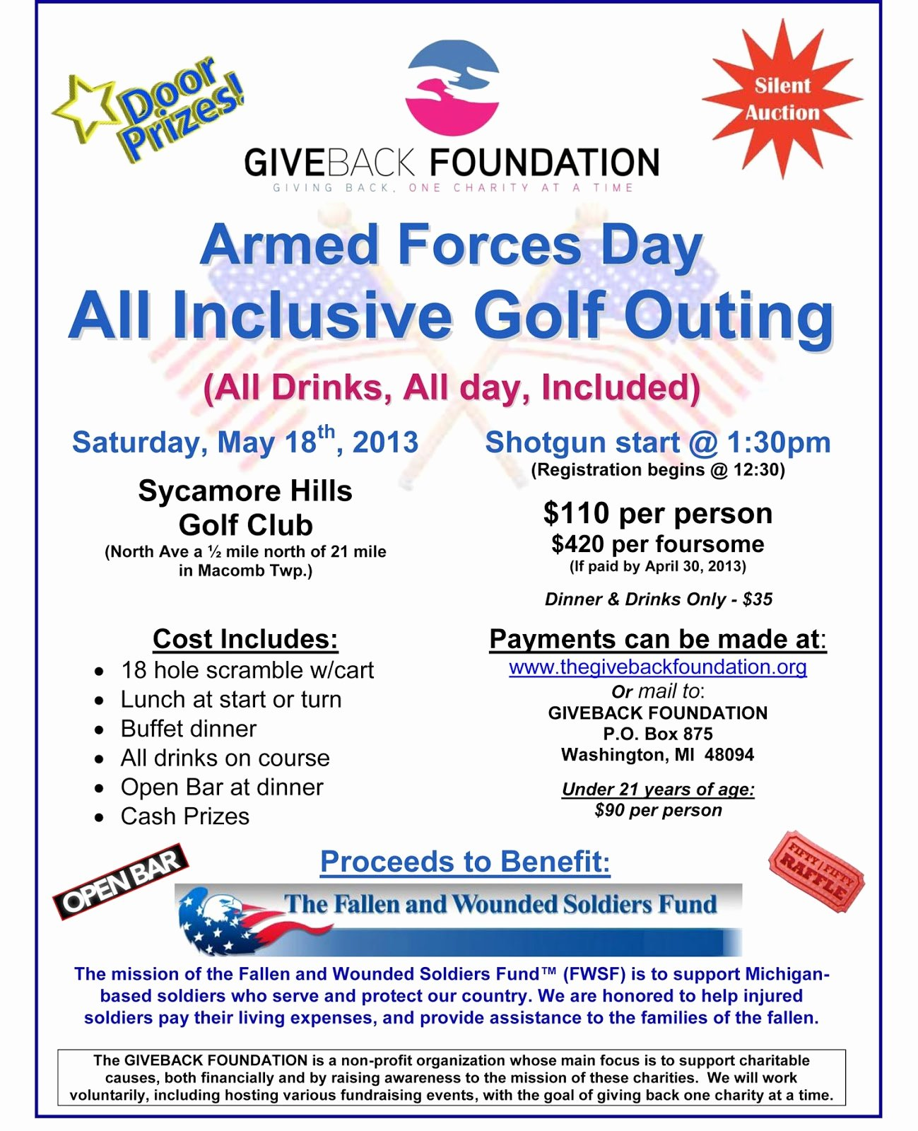 Golf Outing Flyer Template New thegivebackfoundation