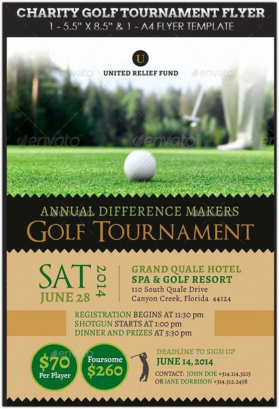 Golf Outing Flyer Template Unique Charity Golf tournament Flyer Hd 2 New Hd Template Images Work