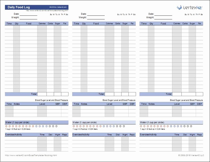 Golf Practice Schedule Template Beautiful Download A Free Printable Daily Food Log to Track Your Food and Water Intake Weight Exercise