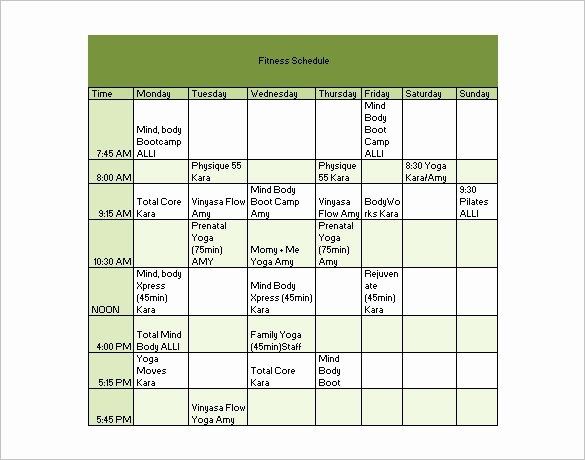 Golf Practice Schedule Template Fresh 24 Workout Schedule Templates Pdf Docs