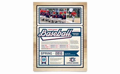 Golf Practice Schedule Template New Baseball League Brochure Template Design