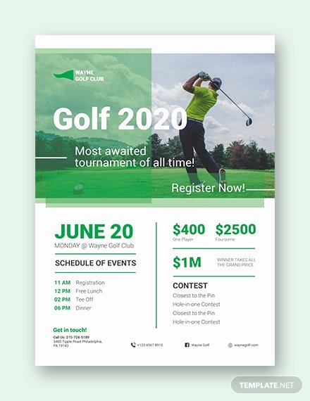 Golf Scramble Flyer Template Beautiful 28 Golf Flyers Templates Word Psd Ai Eps Vector format