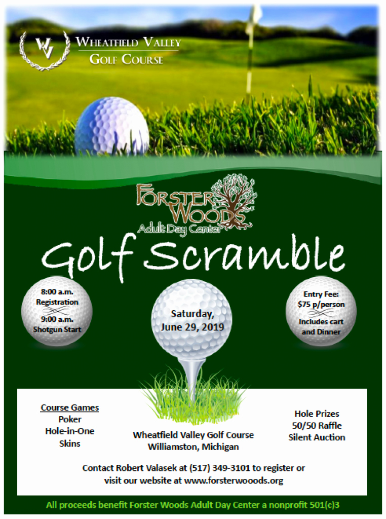 Golf Scramble Flyer Template Best Of Golf Scramble forster Woods Adult Day Center