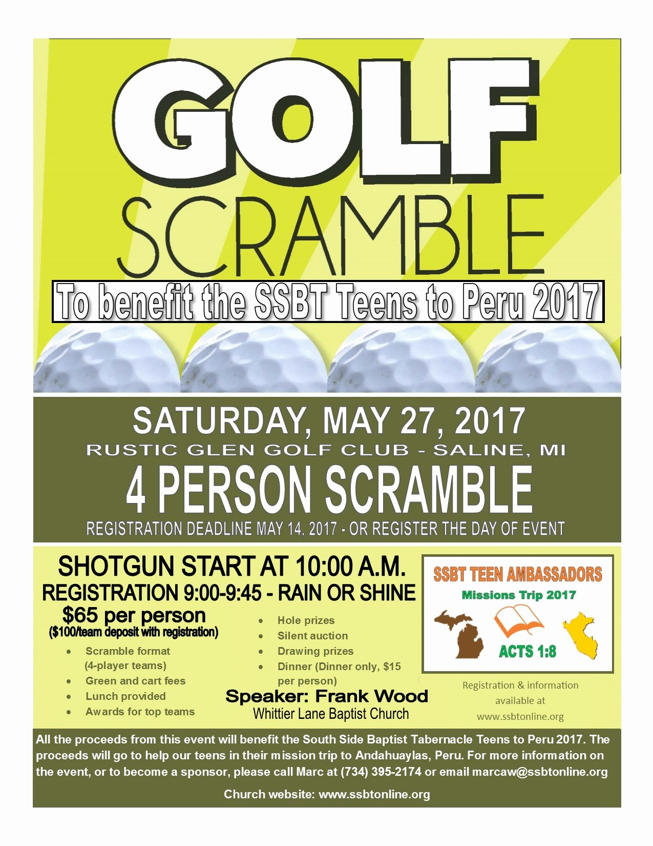Golf Scramble Flyer Template Best Of south Side Baptist Tabernacle