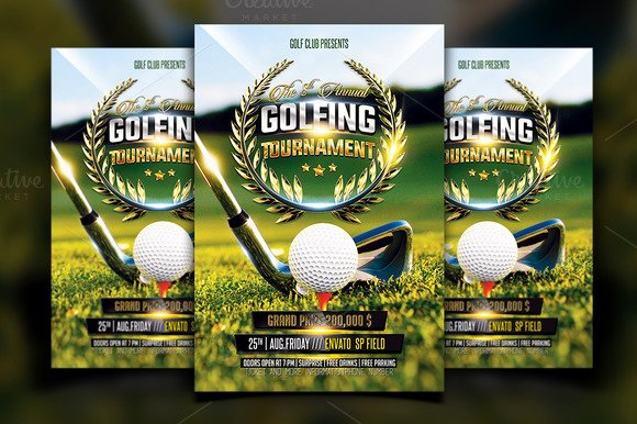 Golf Scramble Flyer Template Elegant Free Golf Scramble Flyer Template Designtube Creative Design Content