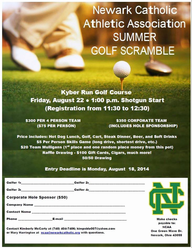 Golf Scramble Flyer Template Elegant Ncaa Summer Golf Scramble August 22