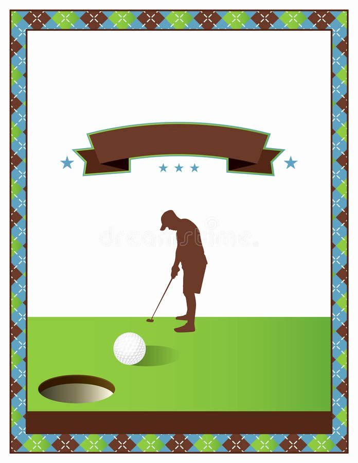 Golf Scramble Flyer Template Unique Blank Golf tournament Flyer Template Stock Vector Illustration Of Putt Poster