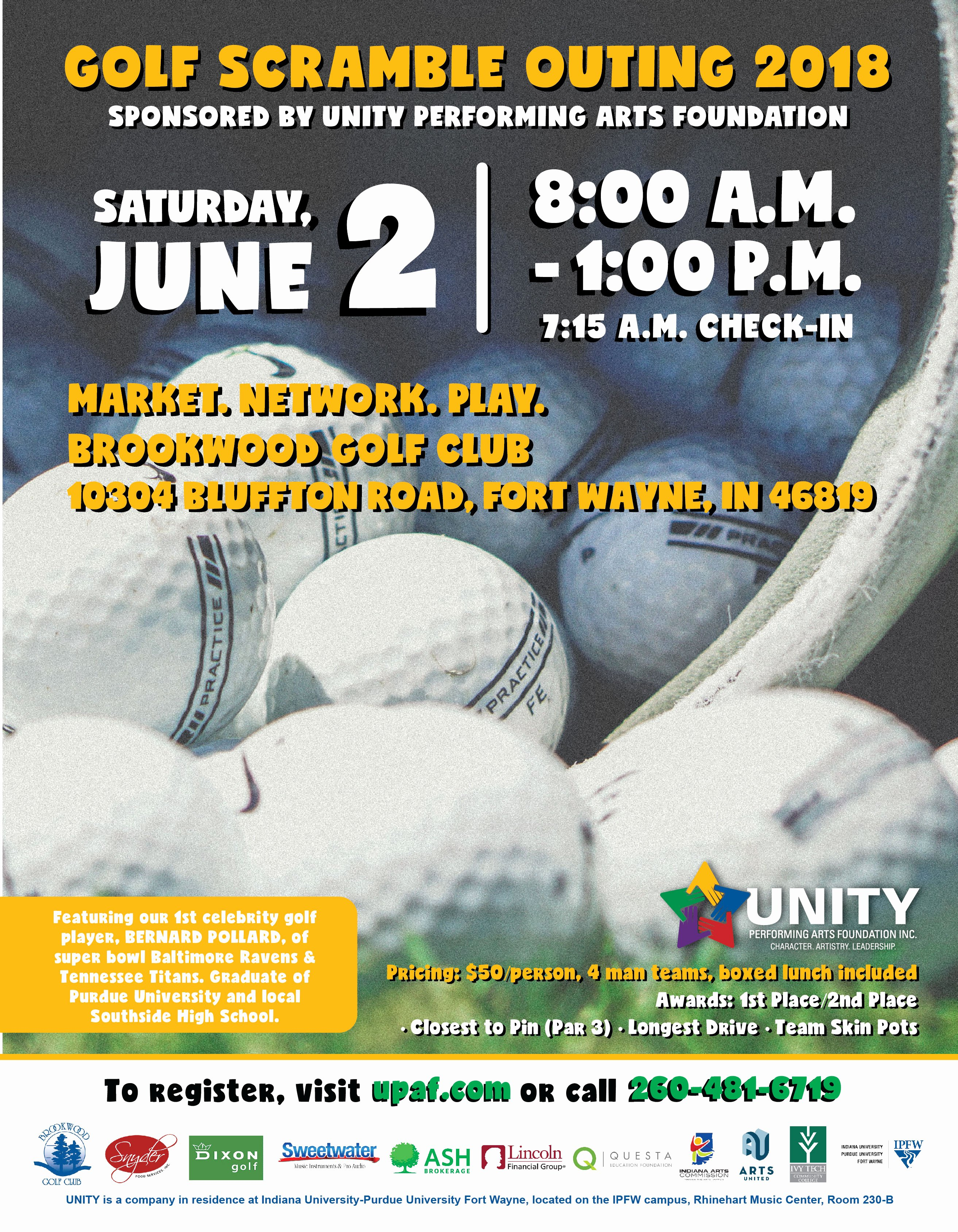 Golf Scramble Flyer Template Unique Unity Performing Arts Foundation 18 Golf Scramble Flyer 01