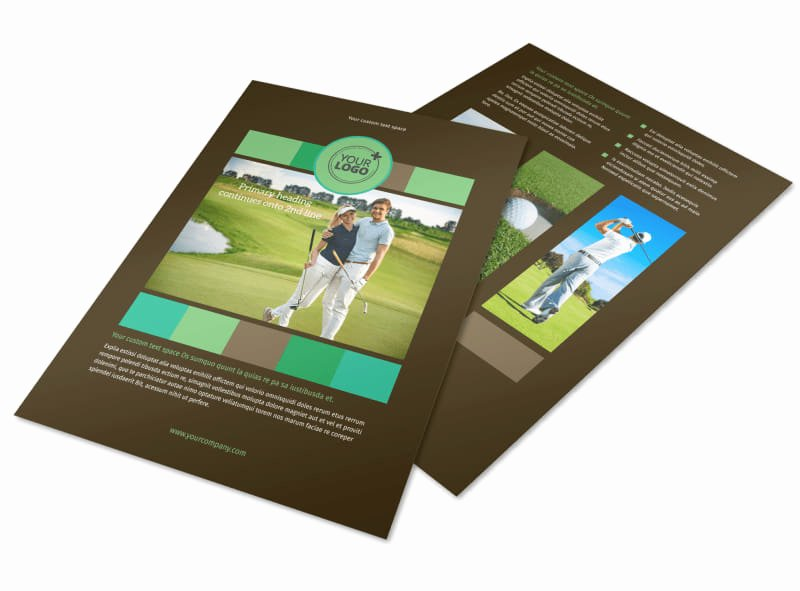 Golf tournament Brochure Template Awesome Golf tournament Flyer Template